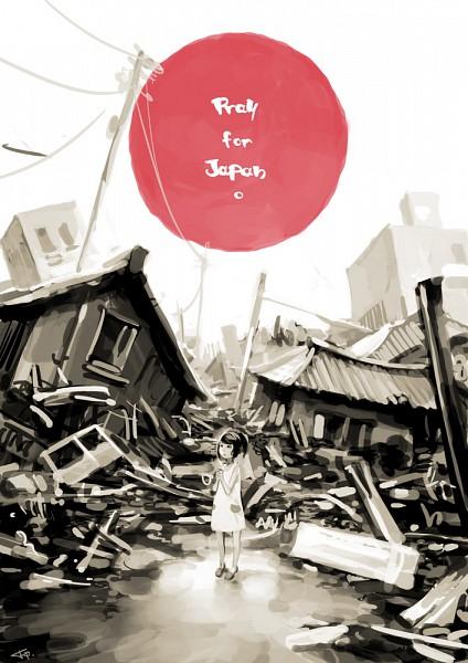 Tags: Anime, Cellar-fcp, Red Sun Motif, deviantART, Mobile Wallpaper, Pray For Japan