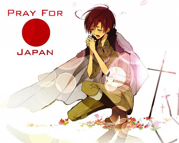Tags: Anime, Axis Powers: Hetalia, South Italy, Red Sun Motif, Praying, Pray For Japan, Mediterranean Countries