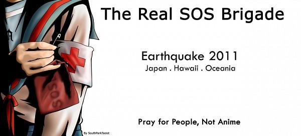 Tags: Anime, Suzumiya Haruhi no Yuuutsu, Suzumiya Haruhi, Facebook Cover, Pray For Japan