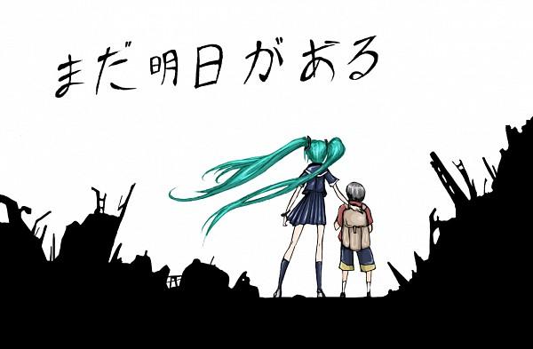 Tags: Anime, VOCALOID, Hatsune Miku, Pray For Japan