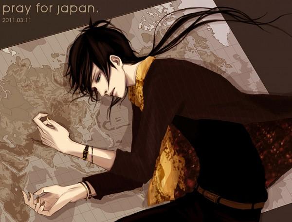 Tags: Anime, Pixiv Id 3182875, Katekyo Hitman REBORN!, Rokudou Mukuro, Map, Pixiv, Pray For Japan, Fanart