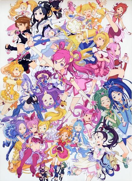 Tags: Anime, Kuroboshi Kouhaku, Futari wa Precure, Heartcatch Precure!, Yes! Precure 5, Precure All Stars, GRANADA LEVEL P, Cure Egret, Minazuki Karen, Dark Mint, Misumi Nagisa, Aono Miki, Mimino Kurumi
