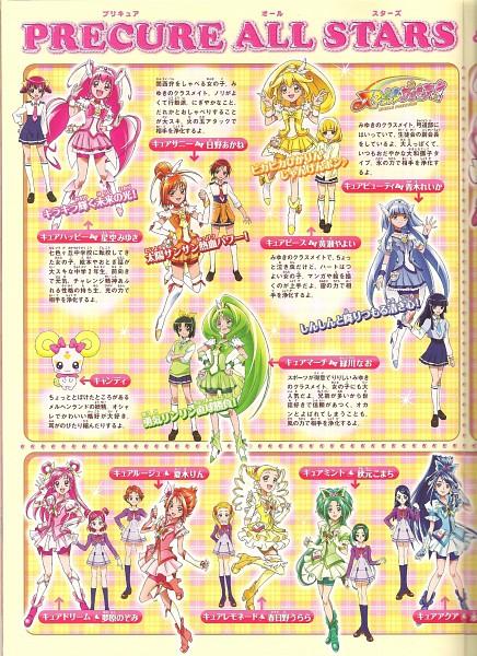 Tags: Anime, Yes! Precure 5, Smile Precure!, Precure All Stars, Cure Peace, Minazuki Karen, Hino Akane, Cure Mint, Cure March, Natsuki Rin, Cure Lemonade, Hoshizora Miyuki, Candy (Smile Precure)