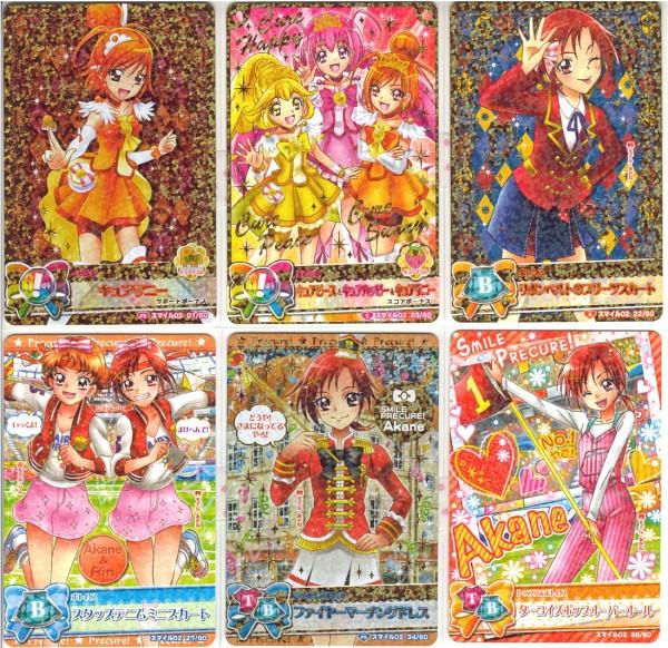 Tags: Anime, Yes! Precure 5, Smile Precure!, Precure All Stars, Data Cardass Precure All Stars, Hoshizora Miyuki, Cure Sunny, Cure Peace, Kise Yayoi, Cure Happy, Natsuki Rin, Hino Akane, Card (Source)