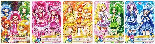 Tags: Anime, Suite Precure♪, Smile Precure!, Precure All Stars, Data Cardass Precure All Stars, Kurokawa Eren, Hoshizora Miyuki, Cure Melody, Cure Happy, Kise Yayoi, Cure Beat, Cure Beauty, Aoki Reika