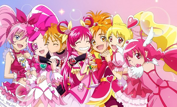 Tags: Anime, Pixiv Id 2465595, Yes! Precure 5, Heartcatch Precure!, Fresh Precure!, Futari wa Precure, Futari wa Precure Splash Star, Smile Precure!, Suite Precure♪, Precure All Stars, Cure Bloom, Misumi Nagisa, Cure Black