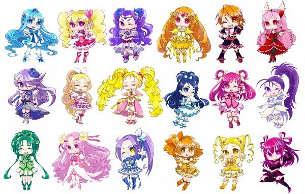 Tags: Anime, Pixiv Id 713862, Fresh Precure!, Futari wa Precure, Futari wa Precure Splash Star, Heartcatch Precure!, Yes! Precure 5, Suite Precure♪, Precure All Stars, Kurokawa Eren, Shiny Luminous, Akimoto Komachi, Tsukikage Yuri