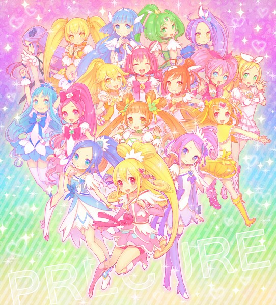Tags: Anime, Inase, Heartcatch Precure!, Dokidoki! Precure, Suite Precure♪, Smile Precure!, Precure All Stars, Aida Mana, Cure Beat, Cure Peace, Cure Marine, Shirabe Ako, Hino Akane, Pretty Cure All Stars New Stage: Friends Of The Future