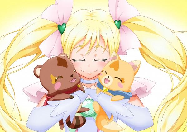 Tags: Anime, Pixiv Id 1120434, Precure All Stars, Cure Echo, Gureru, Enen, Sakagami Ayumi, Raccoon, Fanart, Fanart From Pixiv, Pixiv