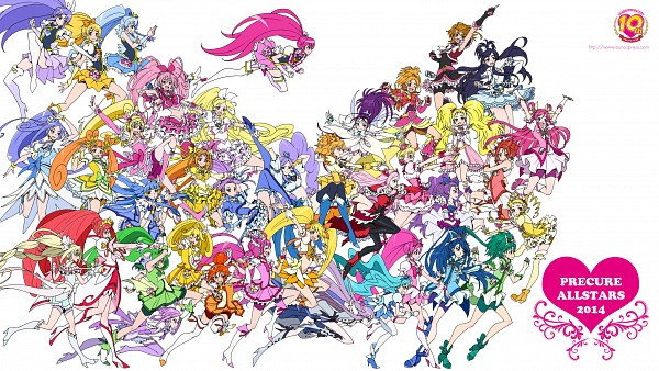 Tags: Anime, Eunos, Yes! Precure 5, Fresh Precure!, HappinessCharge Precure!, Heartcatch Precure!, Smile Precure!, Futari wa Precure, Dokidoki! Precure, Suite Precure♪, Futari wa Precure Splash Star, Precure All Stars, Cure Beat