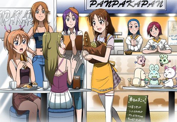 Tags: Anime, Kakki, Suite Precure♪, Futari wa Precure Splash Star, Precure All Stars, Hummy, Hyuuga Minori, Foop, Minamino Kanade, Hyuuga Saki, Moop, Hojo Hibiki, Mishou Mai
