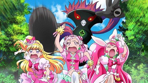Tags: Anime, Toei Animation, HUGtto! Precure, Mahou Tsukai Precure!, Kirakira☆Precure a la Mode, Eiga Precure Super Stars!, Precure All Stars, Cure Yell, Asahina Mirai, Cure Miracle, Usami Ichika, Cure Whip, Nono Hana