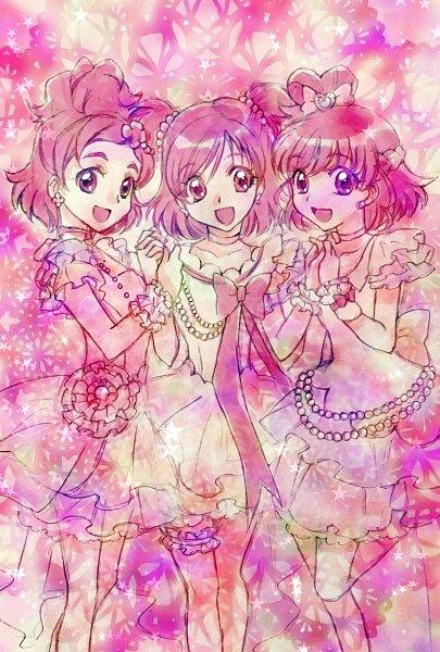 Tags: Anime, Pixiv Id 10336702, Go! Princess Precure, Yes! Precure 5, Mahou Tsukai Precure!, Precure All Stars, Haruno Haruka, Asahina Mirai, Yumehara Nozomi, Fanart, Fanart From Pixiv, Pixiv, Twitter