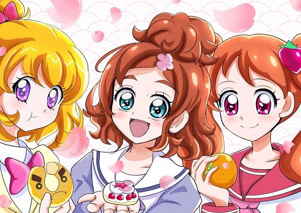 Tags: Anime, Aitaso, Kirakira☆Precure a la Mode, Mahou Tsukai Precure!, Go! Princess Precure, Precure All Stars, Asahina Mirai, Haruno Haruka, Usami Ichika, Fanart, Fanart From Pixiv, Pixiv