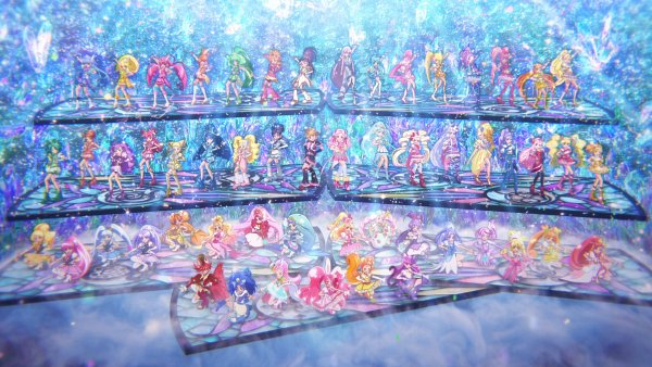 Tags: Anime, Futari wa Precure, Dokidoki! Precure, Mahou Tsukai Precure!, Kirakira☆Precure a la Mode, Precure All Stars, Cure Macaron, Shiny Luminous, Kirahoshi Ciel, Kenzaki Makoto, Cure Felice, Usami Ichika, Cure Gelato