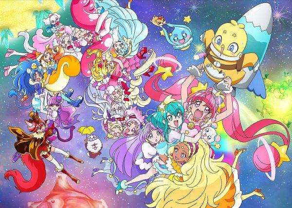 Tags: Anime, Toei Animation, Star☆Twinkle Precure, Kirakira☆Precure a la Mode, HUGtto! Precure, Precure All Stars, Cure Yell, Cure Star, Pekorin, Hariham Harry, Fuwa (Precure), Cure Custard, Chourou (Precure)