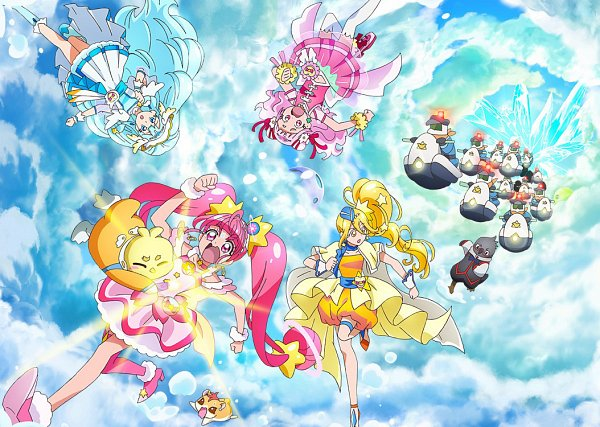 Tags: Anime, Toei Animation, HUGtto! Precure, Star☆Twinkle Precure, Precure All Stars, Yakushiji Saaya, Piton, Hariham Harry, Nono Hana, Yango (Precure), Kagayaki Homare, Cure Yell, Hoshina Hikaru