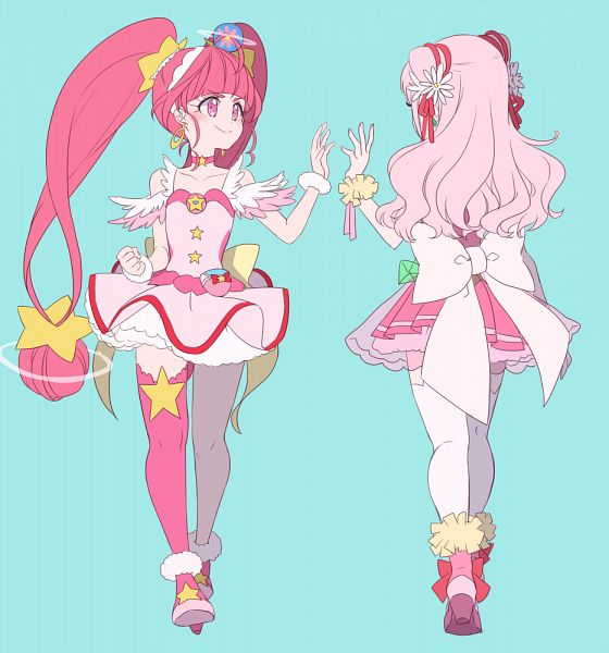 Tags: Anime, Yuuma (Pixiv771064), HUGtto! Precure, Star☆Twinkle Precure, Precure All Stars, Nono Hana, Cure Yell, Hoshina Hikaru, Cure Star, Fanart From Pixiv, Pixiv, Fanart