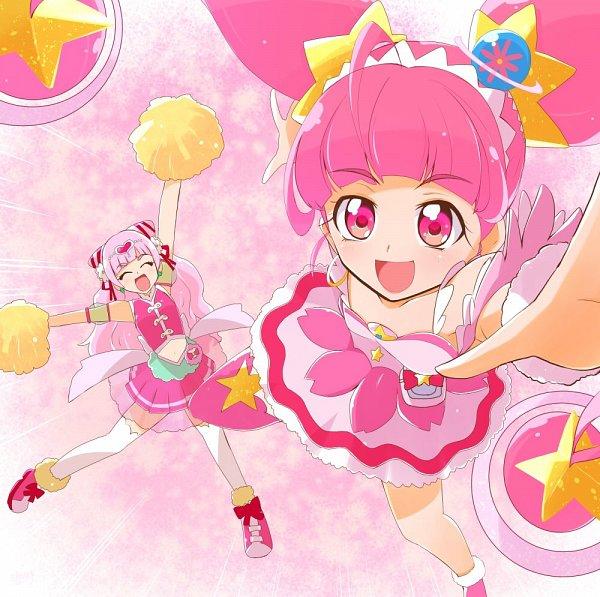 Tags: Anime, Pixiv Id 1399833, Star☆Twinkle Precure, HUGtto! Precure, Precure All Stars, Cure Star, Nono Hana, Cure Yell, Hoshina Hikaru, Pixiv, Fanart, Twitter, Fanart From Pixiv