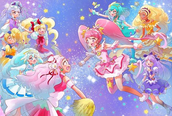 Tags: Anime, Pixiv Id 1706251, HUGtto! Precure, Star☆Twinkle Precure, Precure All Stars, Cure Étoile, Cure Soleil, Cure MaChérie, Amamiya Erena, Cure Ange, Cure Milky, Aisaki Emiru, Hagorumo Lala