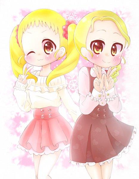 Tags: Anime, Pixiv Id 6124254, Yes! Precure 5, Futari wa Precure, Precure All Stars, Kasugano Urara, Kujo Hikari, Double V, Fanart From Pixiv, Pixiv, Fanart, Twitter