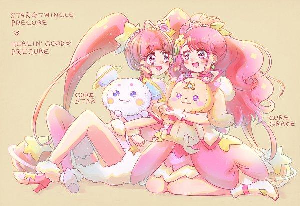 Tags: Anime, Pixiv Id 1706251, Healin'Good♥Precure, Star☆Twinkle Precure, Precure All Stars, Cure Grace, Hoshina Hikaru, Cure Star, Hanadera Nodoka