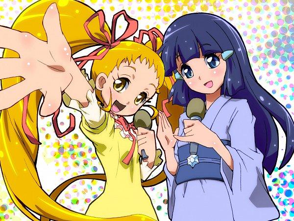 Tags: Anime, Iruka-margarine, Yes! Precure 5, Smile Precure!, Precure All Stars, Aoki Reika, Kasugano Urara, Fanart, Fanart From Pixiv, Pixiv