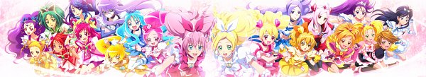 Tags: Anime, Maeasi, Futari wa Precure, Suite Precure♪, Futari wa Precure Splash Star, Heartcatch Precure!, Yes! Precure 5, Fresh Precure!, Precure All Stars, Kasugano Urara, Hyuuga Saki, Cure Passion, Cure Dream