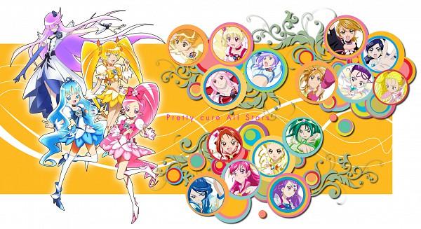 Tags: Anime, Yes! Precure 5, Fresh Precure!, Futari wa Precure, Futari wa Precure Splash Star, Heartcatch Precure!, Precure All Stars, Cure Black, Cure Marine, Yukishiro Honoka, Aono Miki, Mimino Kurumi, Cure Moonlight