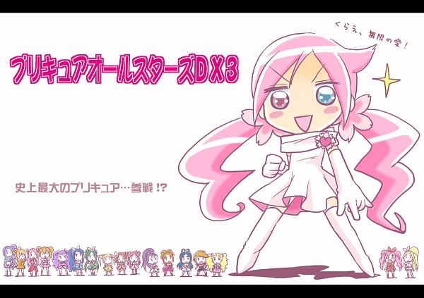 Tags: Anime, Pixiv Id 118391, Futari wa Precure Splash Star, Heartcatch Precure!, Yes! Precure 5, Fresh Precure!, Suite Precure♪, Futari wa Precure, Precure All Stars, Cure Passion, Cure Bloom, Minazuki Karen, Kujo Hikari