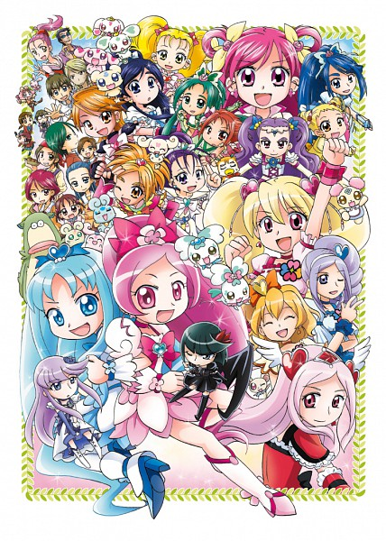 Tags: Anime, Pixiv Id 118391, Futari wa Precure, Futari wa Precure Splash Star, Heartcatch Precure!, Yes! Precure 5, Fresh Precure!, Precure All Stars, Cure White, Cure Dream, Kiriya, Tsukikage Yuri, Cure Pine