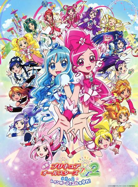 Tags: Anime, Futari wa Precure Splash Star, Yes! Precure 5, Heartcatch Precure!, Fresh Precure!, Futari wa Precure, Precure All Stars, Precure Pia, Cure Bloom, Minazuki Karen, Kurumi Erika, Kujo Hikari, Cure Pine