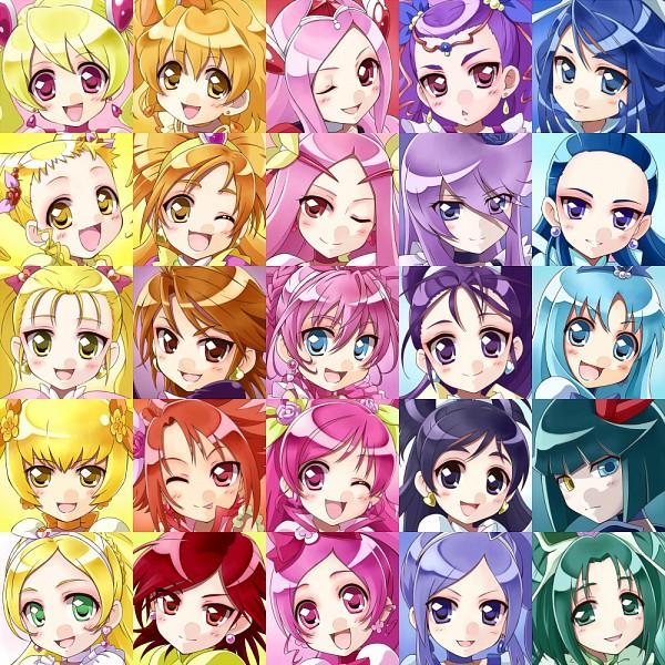 Tags: Anime, Satogo, Futari wa Precure Splash Star, Heartcatch Precure!, Yes! Precure 5, Suite Precure♪, Fresh Precure!, Futari wa Precure, Precure All Stars, Cure Flower, Cure Berry, Cure Marine, Cure Black