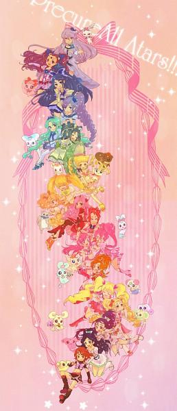 Tags: Anime, Sakura Makoto, Futari wa Precure, Futari wa Precure Splash Star, Yes! Precure 5, Heartcatch Precure!, Fresh Precure!, Precure All Stars, Shiny Luminous, Tsukikage Yuri, Cure Passion, Cure Bloom, Minazuki Karen
