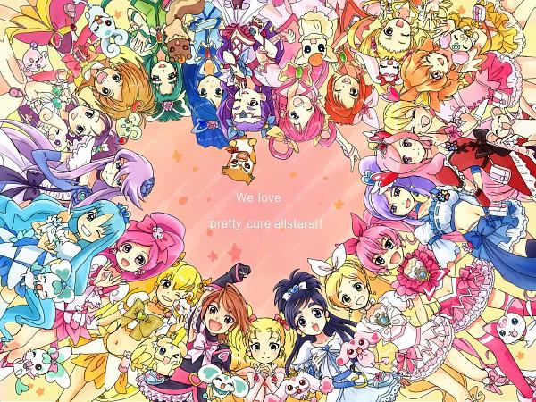 Tags: Anime, Heartcatch Precure!, Suite Precure♪, Yes! Precure 5, Fresh Precure!, Futari wa Precure, Futari wa Precure Splash Star, Precure All Stars, Misumi Nagisa, Cure Melody, Yamabuki Inori, Mishou Mai, Milky Rose