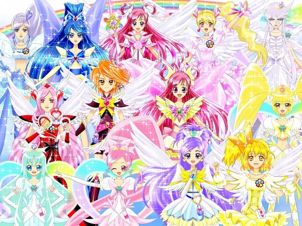 Tags: Anime, Luna Rune, Yes! Precure 5, Heartcatch Precure!, Fresh Precure!, Futari wa Precure, Precure All Stars, Cure Angel (Berry), Super Cure Marine, Shining Dream, Misumi Nagisa, Cure Pine, Hanasaki Tsubomi