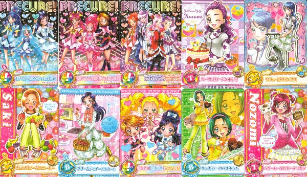 Tags: Anime, Fresh Precure!, Futari wa Precure, Futari wa Precure Splash Star, Heartcatch Precure!, Yes! Precure 5, Precure All Stars, Data Cardass Precure All Stars, Higashi Setsuna, Milk (Pretty Cure), Yumehara Nozomi, Cure Bloom, Hanasaki Tsubomi
