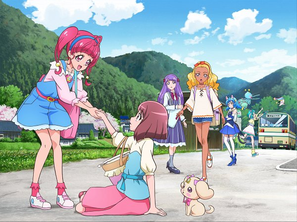 Tags: Anime, Toei Animation, Star☆Twinkle Precure, Healin'Good♥Precure, Precure Miracle Leap: Minna to no Fushigi na 1 Nichi, Fuwa (Precure), Rate (Pretty Cure), Kaguya Madoka, Hanadera Nodoka, Amamiya Erena, Hagoromo Lala, Prunce, Hoshina Hikaru