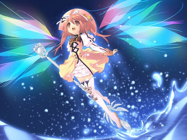 Tags: Anime, Ito Noizi, Nanatsuiro Drops, Prima Pramu, Akihime Sumomo, Detached Wings, CG Art