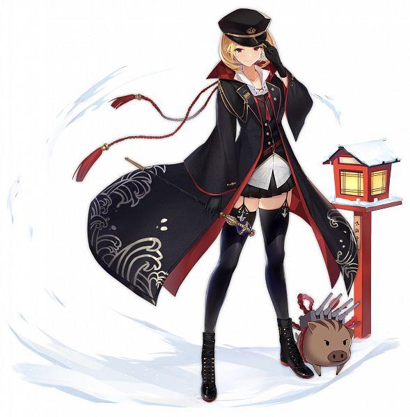 Tags: Anime, Enka, Yostar, Azur Lane, Prince of Wales (Azur Lane), Happy 2019, Official Art, Sakura Elegance
