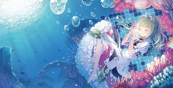 Tags: Anime, Kichiroku, Sekaiju no Meikyuu III: Seikai no Raihousha, Sekaiju no Meikyuu, Princess (Sekaiju), Seashell, Coral, Facebook Cover, Pixiv