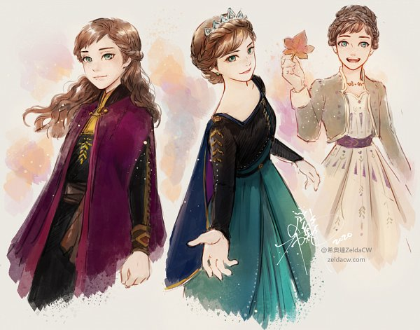 Tags: Anime, Zelda C. Wang, Frozen (Disney), Princess Anna of Arendelle, Disney, Character Sheet