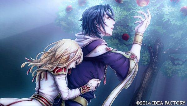 Tags: Anime, Higashi Yuuhi, IDEA FACTORY, Otomate, Princess Arthur, Merlyn, Aru (Princess Arthur), Surprise Hug, Official Art, CG Art