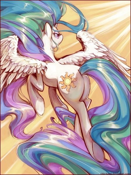 Tags: Anime, Chio-kami, My Little Pony, Princess Celestia, Alicorn, Cutie Mark, Sun (Symbol), deviantART, Fanart From DeviantART, Fanart