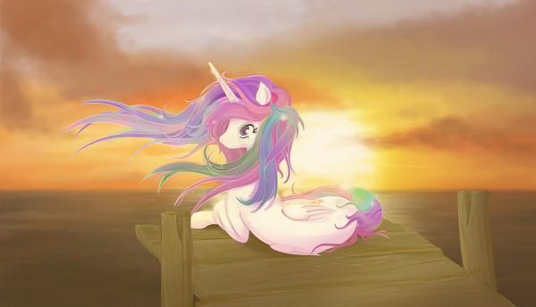 Tags: Anime, V-invidia, My Little Pony, Princess Celestia, Alicorn, Cutie Mark, deviantART, Fanart, Fanart From DeviantART