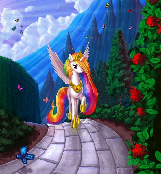 Tags: Anime, Alexmakovsky, My Little Pony, Princess Celestia, Alicorn, deviantART, Fanart, Fanart From DeviantART