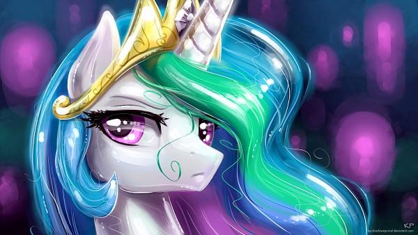 Tags: Anime, KP-ShadowSquirrel, My Little Pony, Princess Celestia, Alicorn, deviantART, Wallpaper, Fanart From DeviantART, Fanart