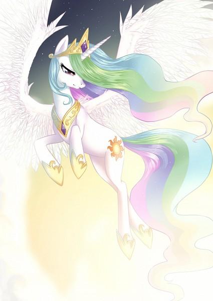 Tags: Anime, Tamponandtwilaloop, My Little Pony, Princess Celestia, Cutie Mark, Sun (Symbol), Alicorn, deviantART, Fanart From DeviantART, Fanart