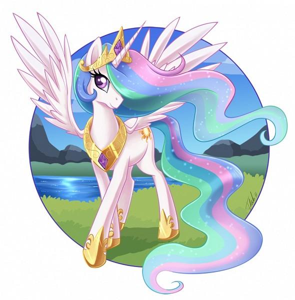 Tags: Anime, Metalpandora, My Little Pony, Princess Celestia, Alicorn, Cutie Mark, deviantART, Fanart, Fanart From DeviantART