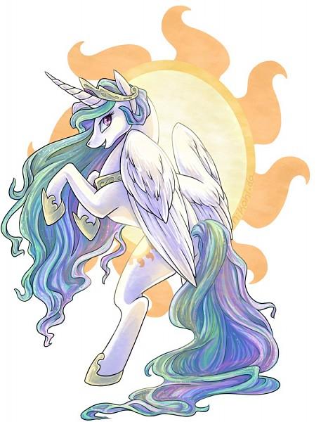 Tags: Anime, Nikohl, My Little Pony, Princess Celestia, Cutie Mark, Alicorn, deviantART, Fanart, Fanart From DeviantART